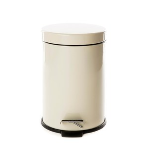 踏式垃圾桶3L-米白