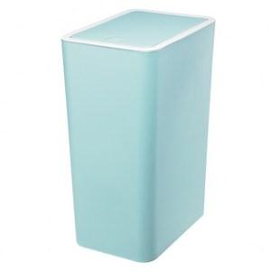 米蘭按壓式垃圾桶12L 藍