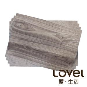 LOVEL 木紋PVC餐墊(4入)-淡銀灰
