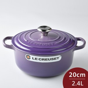 [特價]Le Creuset 琺瑯鑄鐵典藏圓鍋 20cm 2.4L 紫羅蘭 法國製