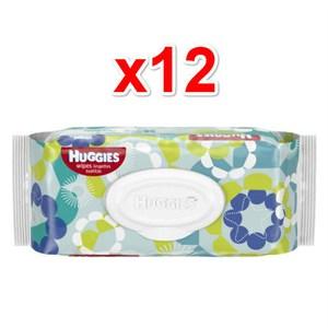 美國原裝進口 美國 Huggies 柔濕巾 小黃瓜+茶樹 (56片)*12