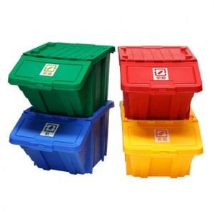 家用可疊式資源回收箱 4色/組