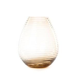 圓紋透明花器 咖啡 20cm