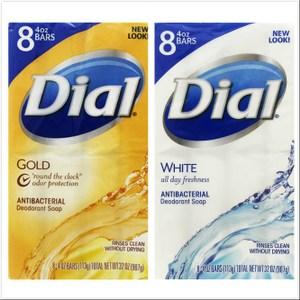 美國Dial黛雅經典黃金皂+水嫩香皂(4oz*8)*2組