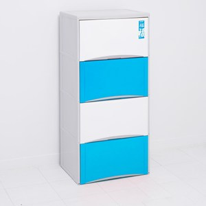 福氣高昇四層收納置物櫃(40L*4層)-粉藍