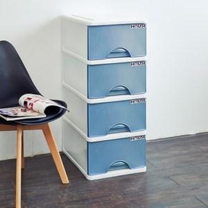 大自然四層收納置物櫃(32公升4層櫃)-藍