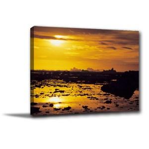 24mama掛畫-單聯式 夕陽無框畫 居家裝飾 60x40cm