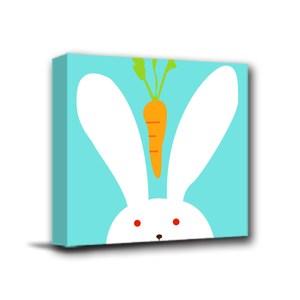 24mama掛畫-單聯式 北歐風無框畫 兔子 30x30cm