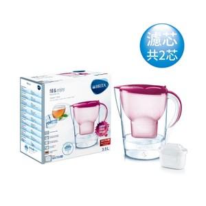 【德國BRITA】馬利拉花漾濾水壺 莓果粉3.5L(含2個濾芯)