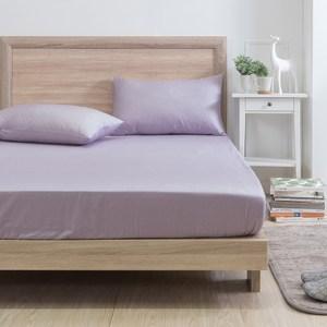 MONTAGUT-紫夢物語-200織紗精梳棉三件式床包組(雙人)