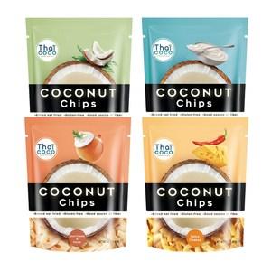 【Thai Coco】脆烤椰子片(5包-口味綜合)