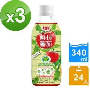 【愛之味】Oligo健字號鮮採蕃茄汁340ML(24瓶/箱)*3箱組