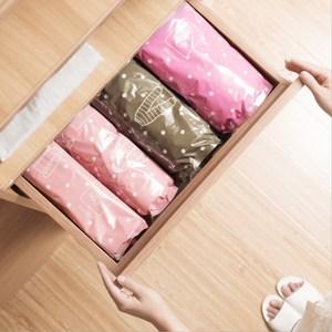PUSH!居家生活用品手壓式真空壓縮袋(粉色小號4入裝)S58