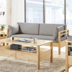 莫德本色全實木三人沙發