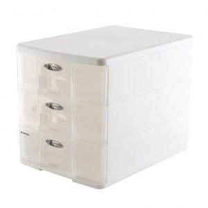 A4三層玲瓏盒PC-1103牙色