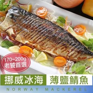 【愛上新鮮】美味老饕挪威鯖魚20片組(170-190g/片)