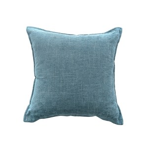 莎爾素色絨綿環保棉抱枕45x45cm藍
