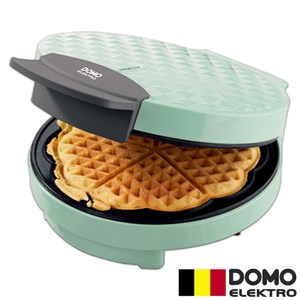 【比利時DOMO】菱格紋鬆餅機DM9007WT(愛心造型)