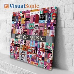 VISUAL SONIC超薄藍牙畫布音箱 Art Of Music