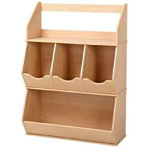 松菁多用途四格櫃 (採E1板材) 40x84x103.2cm