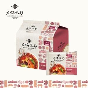 老鍋米粉.純米麻辣鮮蝦湯米粉家庭包(4包/袋,共2袋)