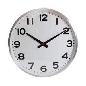 Lovel 38cm工業風鋁框時鐘-潔白時光(726-SL)