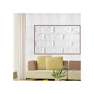 3D立體仿磚紋壁貼大尺寸3片粉嫩黃