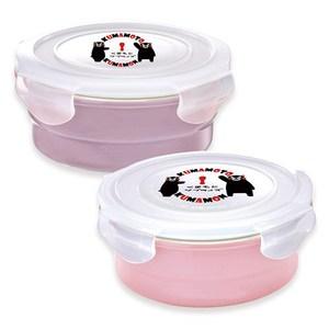 [特價]KUMAMON 酷Ma萌鑄瓷可微波烤箱圓型500ml+800ml保鮮盒
