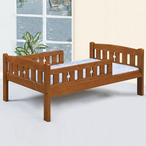 Homelike 湯尼護欄床架組-單人3.5尺(不含床墊)