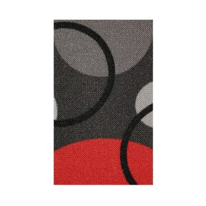 炫彩地毯200x260cm黑紅