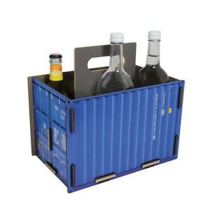 WERKHAUS 工業風貨櫃飲料置物箱 (共2色) 藍