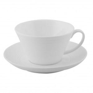 羅紋骨瓷咖啡杯盤組200cc