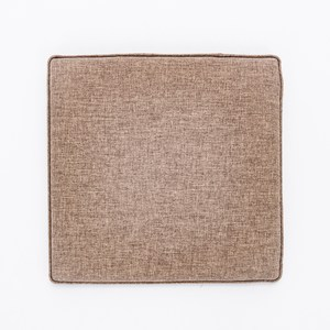 素色記憶棉坐墊40x40x4cm 棕色