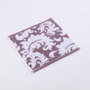 HOLA 典雅緹花方巾-紫30X30