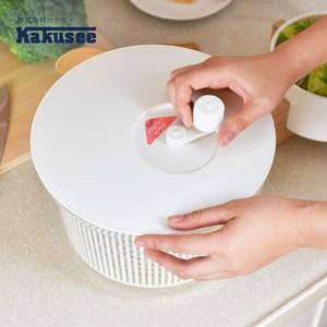 [特價]【日本Kakusee料理道具】蔬果生菜脫水籃-L