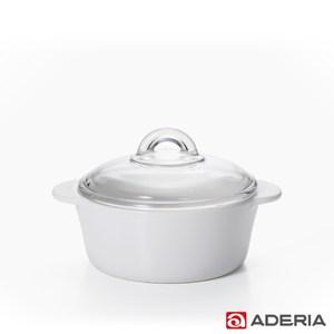【ADERIA】日本進口陶瓷塗層耐熱玻璃調理鍋1.2L