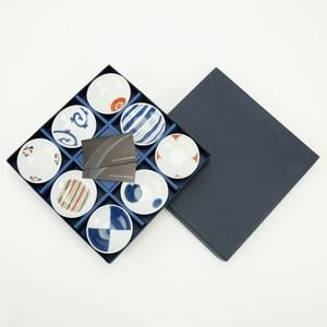 日本 染錦繪變8件小碟組 Saikaitoki 西海陶器 波佐見焼