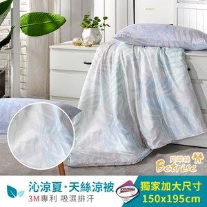 【Betrise清畫】3M吸濕排汗專利天絲鋪棉涼被枕套三件組