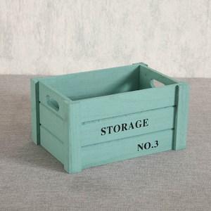 家居木質收納箱-(綠色)中