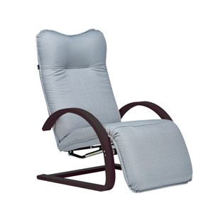 伊登 真享受 單人沙發躺椅(灰配胡桃色)