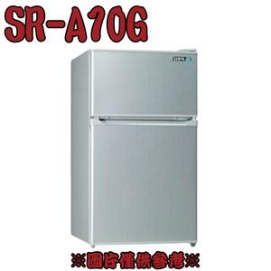 【SAMPO聲寶】100公升雙門小冰箱 SR-A10G