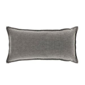 浮紋編織腰靠枕 30x60cm 灰
