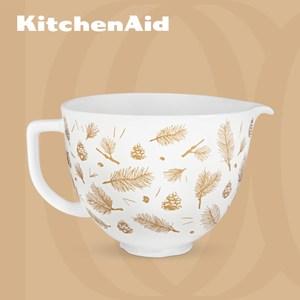 【KitchenAid】5Q陶瓷攪拌盆(金葉松果)