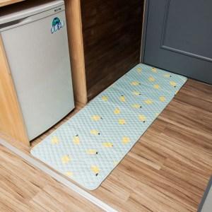 樂嫚妮 防滑長地墊 床邊走道墊 50X150cm絎縫墊50X150-檸檬樹