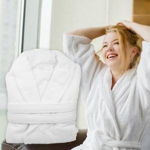 【花季】純品良織-五星飯店款100%純棉舒柔保暖歐式浴袍*1件組