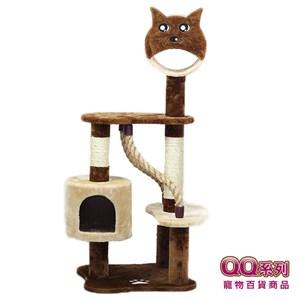 【QQ】貓臉繩索貓跳台 (QQ80105-4) (I002G28)