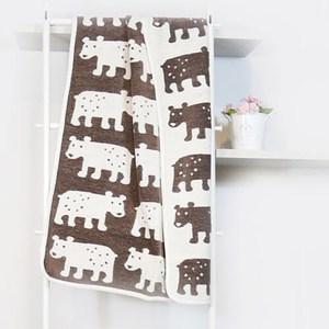 瑞典Klippan有機棉毯--熊熊(咖啡)