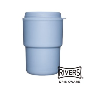 日本 Rivers WALLMUG DEMITA隨行杯290ml-藍