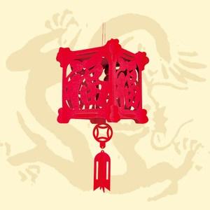 方型燈籠立體吊飾 福祿滿門 20cm