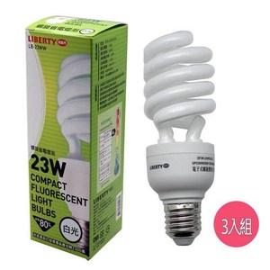 利百代螺旋省電燈泡 23W 3入(白光)